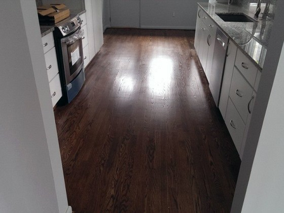 Dark Oak Cherry Kitchen Floor