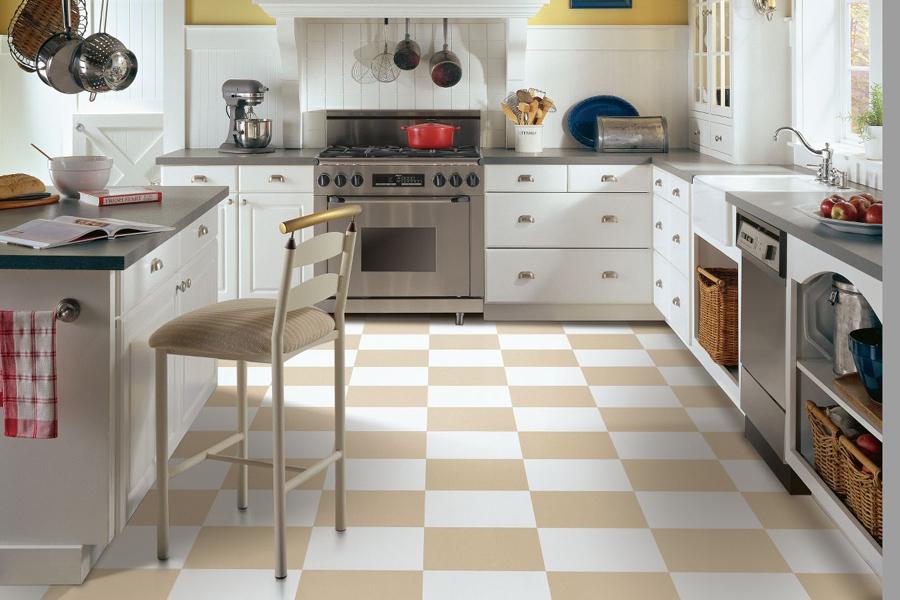 Whole Floor Patterning Vinyl City Flooring